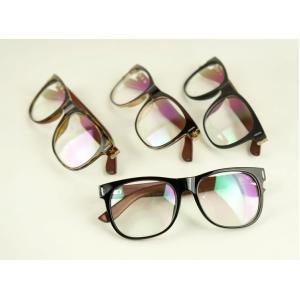 กรอบแว่นสายตาใหญ่ ขาลายไม้ ทูโทน No.6 (ดำเงา ดำด้าน ชา กระ )