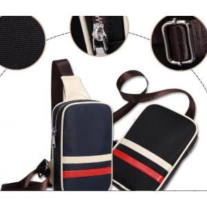 หลากสี!!กระเป๋าสะพายคาดอก เหลี่ยม ผ้าใบกันน้ำ สีดำ