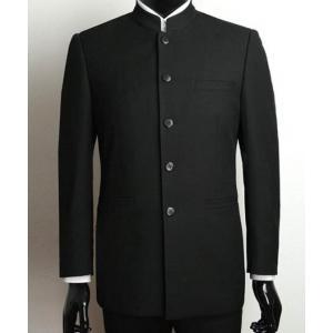 พิเศษ!!แบบกระดุมตามสั่ง!!เสื้อสูท คอจีนกระดุมดำ Size No.38 40 42 44 46 ดำ