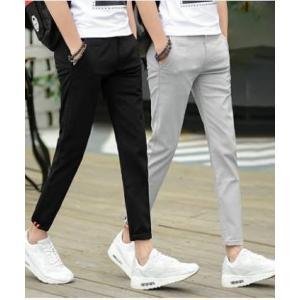 กางเกงสแล็ค 5ส่วน กางเกงผ้ายืด เข้ารูป ขาเล็ก กระดุมซ่อน No.27-36 สีดำ เทา กากี ฟ้า