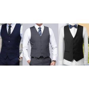 3สี เล็ก+ใหญ่ เสื้อกั๊กสูทสลิมฟิต มาตรฐาน กระดุม5เม็ด สี ดำ น้ำเงิน เทาเข้ม Size No.33 35 37 39 41