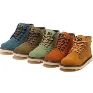 เล็กพิเศษ!!รองเท้าบูท หนังกลับ รองเท้าหุ้มข้อ หนังแท้ สีกากีขี้ม้า เหลืองน้ำตาล เขียวอ่อน ฟ้า เบอร์ 35-44