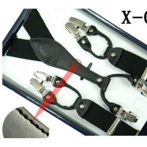 สายรัดกางเกงเอี๊ยม มาตรฐาน 6จุด หูคู่ กว้าง 3.5cm แบบ Y ดำ น้ำเงิน แดง