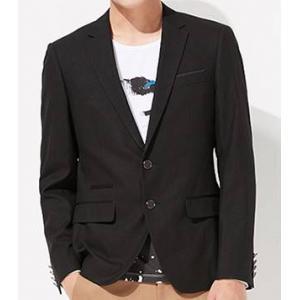 เสื้อสูทแฟชั่นชาย ปกเปิด ผ้าฝ้าย กระดุมดำหรู 3ช่อง Size No.35 37