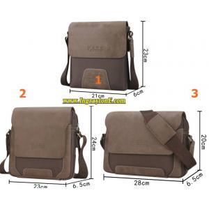 กระเป๋าเรโทร ขนาดพกพา CODE No.2A 2B สุดคลาสสิค เนื้อผ้าออกฟอร์ด สีน้ำตาล