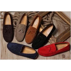 เล็กใหญ่พิเศษหลากสี!!รองเท้าloafer รองเท้าคัทชู หนังแท้ ออกฟอร์ด พู่แฟชั่น C24 ดำ แดง เทา กากี น้ำเงิน เบอร์ 38-44