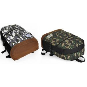 กระเป๋าเป้สะพายหลัง ผ้าใบกันน้ำ รูดซิบลายพราง สุดคลาสสิค สไตล์ญี่ปุ่น kimura สีเขียว เทา