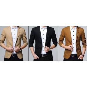 เสื้อสูทลำลองแฟชั่นผู้ชายแต่งอกซ้าย Size No.34 36 38 40 42 43 น้ำตาล กากี ดำ น้ำเงิน