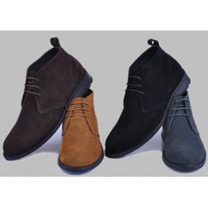 รองเท้าหุ้มส้นพิเศษ หนังกลับแบบเรียบ หุ้มข้อสูง สีดำ เบจ น้ำตาล เทา No.37-47