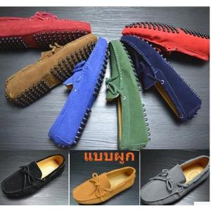 9สี 3แบบ พรีออเดอร์รองเท้า loafer หนังกลับ 9สี สไตล์ tod แบบผูก C4 No.38-45 เขียวเข้ม เทา น่ำเงิน ฟ้า น้ำตาล ดำ เขียวขี้ม้า กากี น่ำเงินกรม
