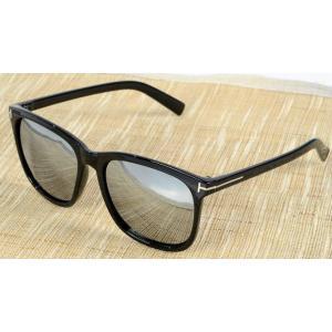 กรอบแว่นตากันแดดใหญ่ tomf สลิมบาง (ดำ)