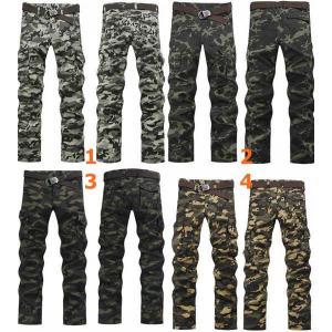 กางเกงเดฟทหาร สกินนี่ ยืด ลายทหาร แต่งกระเป๋าพิเศษ ผ้าเข้ารูปใส่สบาย No.27-36 สี 1 3 4 5