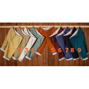 9สีเล็ก+ใหญ่!กางเกงสแล็คขาสั้น แฟชั่นทรงสลิม พับขาลาย คลิบกระเป๋า เอว No.28-38
