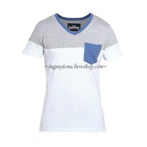 เสื้อยืดคอวี New Look UK No.36 ลายขวาง