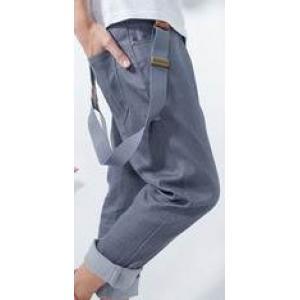กางเกงเอี๊ยมสแลคแฟชั่น แบบเด็กแนว No.29-30 เทา