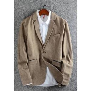 SALE!!เสื้อสูท แฟชั่นชาย สไตล์อังกฤษ ปกเปิด ลินินคอตตอน สีน้ำตาล เทา Size No.36 38 40 42