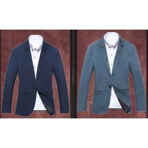 เสื้อสูทแฟชั่นชาย อังกฤษ สลิมฟิต ปกเปิดมาตรฐาน กระเป๋าสอด สีน้ำเงินเข้ม ฟ้าอมเขียวSize No.34 36 38 40 42