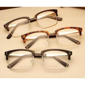 กรอบแว่นตาแฟชั่น ครึ่งกรอบ เหลี่ยม แนวๆเรโทร วินเทจ repub (ดำด้าน ดำเงา น้ำตาล กระ)