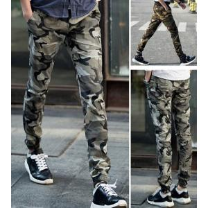 เล็ก+ กางเกงทหารขาจั๊ม ลายพราง เอวจั๊ม รูด สีเทา เขียว size 27-35
