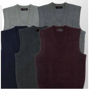 เสื้อกั๊กไหมพรมผู้ชาย สไตล์อังกฤษ สีล้วน คอวีV เดินเส้น Size No.36-38-40 หลากสี เทาเข้ม เทาอ่อน เทา น้ำเงิน แดง