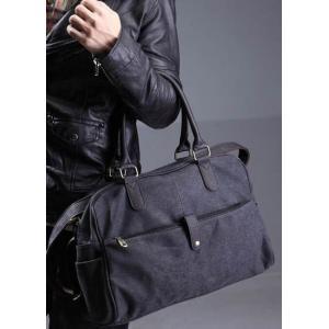 กระเป๋าเรโทร Hold all สุดคลาสสิค สไตล์อังกฤษ ผ้าใบ สีดำ กากี