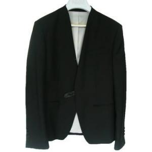 เสื้อสูทแฟชั่นชาย no collar ดีไซน์คลาสสิค ผ้าฝ้าย กระดุมดำ เรียบหรู สีดำ Size No.35 37