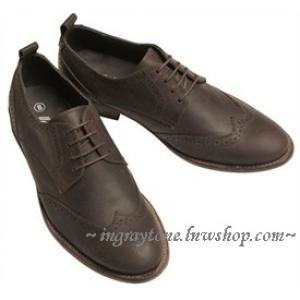 ราคาพิเศษสุด!! รองเท้าหุ้มส้นพิเศษ สไตล์อังกฤษ สีน้ำตาล สีดำ วินเทจ ปรุออกฟอร์ด แต่งผิว Limited edition เบอร์40-41