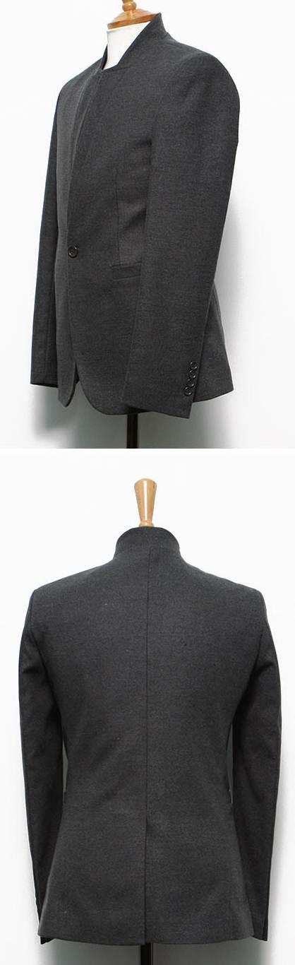 เสื้อสูทแขนยาว ตัวเล็กคอจีนปก2สไตล์ ปกตั้งและพับได้ Size No.36 เทา