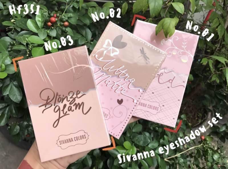 Sivanna eyeshadow set HF351 พาเลทอายแชโดว์ 8 ช่อง ราคาปลีก 150 บาท / ราคาส่ง 120 บาท