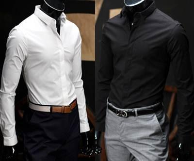ซื้อ2ตัวลด100สุดคุ้ม!!เสื้อเชิ้ตแขนยาว ทรงฟิต ปกเล็กสไตล์อังกฤษสีขาว ดำ ฟ้า เขียว ม่วง ฟ้าเข้ม No.36 38 40 42 44