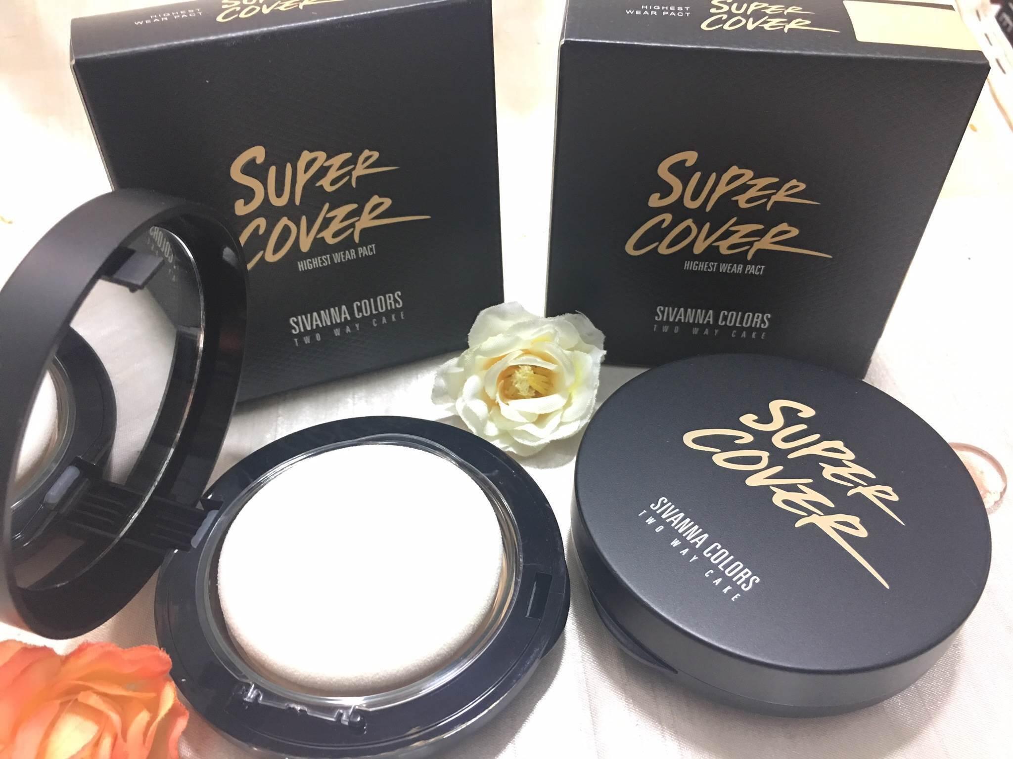 แป้งพัฟหน้าเด้ง Sivanna Super Cover Two Way Cake HF201 ราคาปลีก 100 บาท / ราคาส่ง 80 บาท