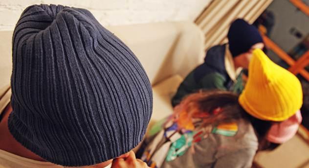 หมวกผ้า หมวกคลุม ไหมพรม ลายเล็ก สีดำ เทา แดง น้ำตาล น้ำเงิน