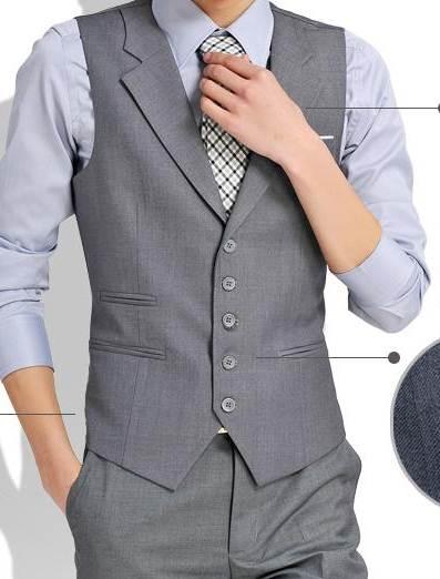 เทา ดำ+เสื้อกั๊ก คอปกสีล้วน Size No.34 36-38-40 เทา ดำ