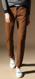 กางเกงสแล็คสลิม หลากสี ใส่สบาย เอว No.31-32 น้ำตาล