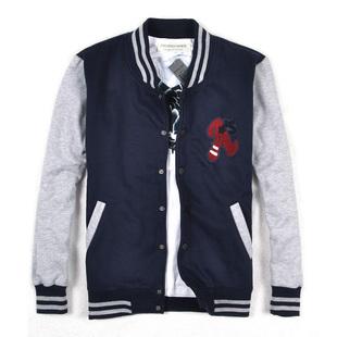 เสื้อแจ็คเก็ตเบสบอล สีน้ำเงินเทา โลโก้ As No.38