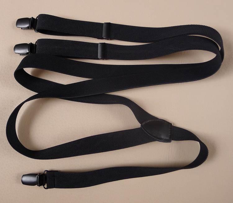 พิเศษ!!สายรัดกางเกงเอี๊ยมดำล้วน กว้าง 2cm แบบ Y ดำ