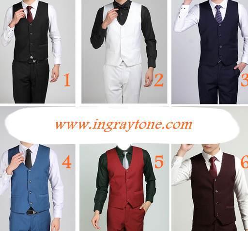 หลากสีใหม่ กากี+เสื้อกั๊กตัวเล็กพิเศษ แฟชั่น โค้งอก Size No.34 36 38 40 42 44 สี 1-10