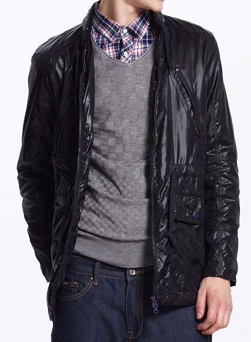 เสื้อคลุม แจ็คเก็ตฮูด กันหนาว กันลม ตัวยาว กระเป๋าพิเศษ สีฟ้า ดำ No.38 40 42 44 46