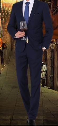 โปรชุดสูท!!คุ้มสุดๆชุดเสื้อสูท กางเกง สลิมฟิต ปกเปิดมาตรฐาน กระดุม1เม็ด สีน้ำเงินกรม Size No.เสื้อ34 กางเกง28