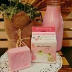 Ha-Young Soap (สีชมพู) สบู่ฮายังนมชมพู ราคาปลีก 40 บาท / ราคาส่ง 32 บาท