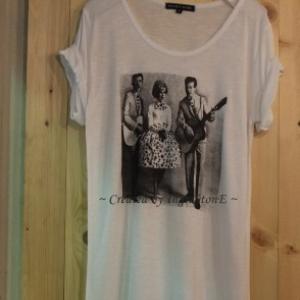 เสื้อยืด ลายวินเทจ MUSIC Size No.40 (ขาว)