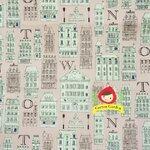 ผ้าคอตตอนลินิน ญี่ปุ่นลายอาคาร สีชมพูอ่อนๆ ผ้าเนื้อหนา นิ่ม เหมาะกับงานผ้าทุกชนิด