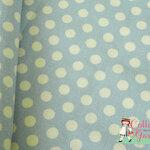 ผ้าคอตตอนญี่ปุ่น ลายจุดสีฟ้าหวาน ของ Yuwa Life Collection เนื้อหนาค่ะ