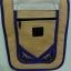 กระเป๋าผ้าปัก ลายช้างสีม่วง สายสะพายข้างปรับสายได้ ติดซิปด้านนอกและด้านใน thumbnail 2