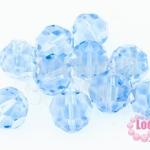 คริสตัลจีน กลมเจียรเหลี่ยม สีน้ำเงินอ่อน 14มิล(1ชิ้น)
