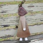 ตุ้งติ้งน้องซู (Sun Bonnet Sue) ใช้ห้อยกระเป๋า เป็นพวงกุญแจ น่ารักสไตล์ญี่ปุ่นค่ะ ทำจากผ้าทอญี่ปุ่นอย่างดี ขนาด สูง 12 ซม