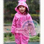 เสื้อกันฝน Funny Rain Coat สีชมพู